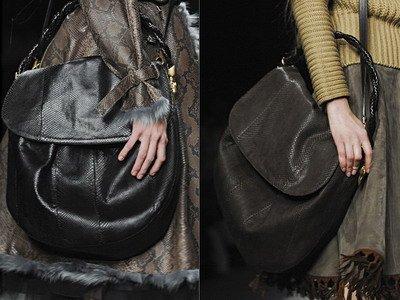 Большая сумка - это, безусловно, удобно.  Но еще, именно крупные...