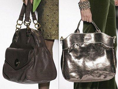 На фото дамские сумки от Badgley Mischka.